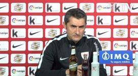 """Valverde: """"Siempre podremos decir que estuvimos el día que Aduriz marcó cinco goles"""""""