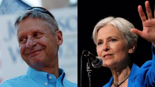 Gary johnson y Jill Stein