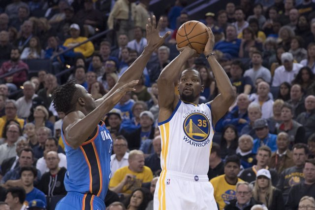 Kevin Durant en el Warriors - Thunder