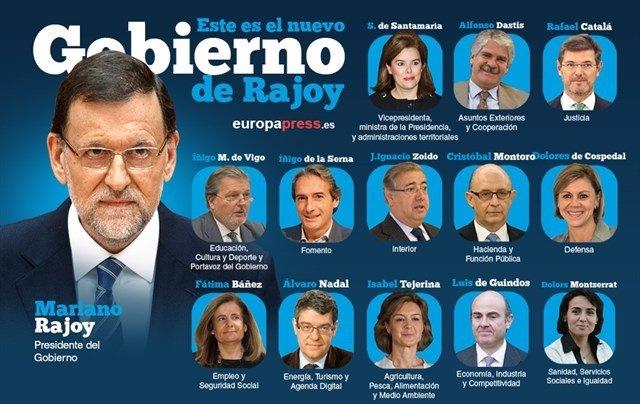 Resultado de imagen de ministros de gobierno de españa
