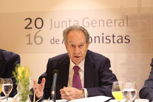 El presidente de OHL, Juan Miguel Villar Mir