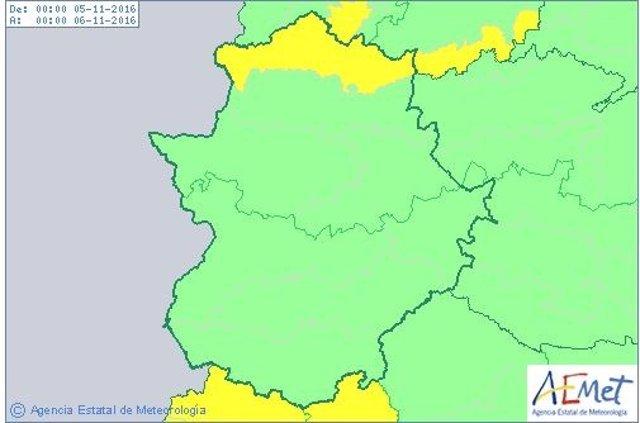 Alerta por lluvias en el norte de Cáceres