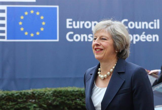Theresa May en Bruselas