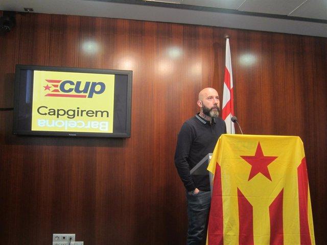 El edil de la CUP en Barcelona Jordi Garganté