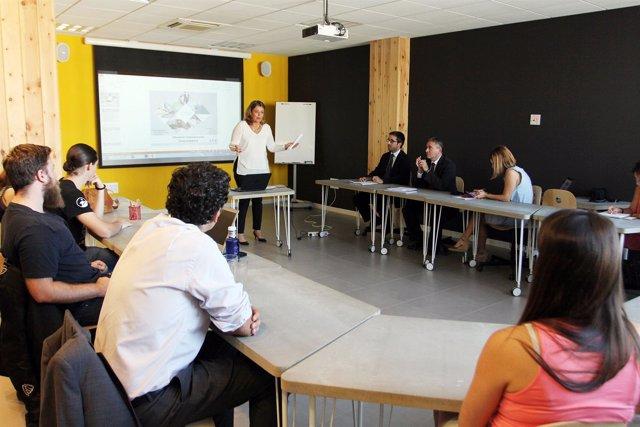 Conferencia de Edufinet, proyecto de Unicaja, en el PTA