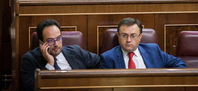 Antonio Hernando y Miguel Ángel Heredia, del Grupo Socialista