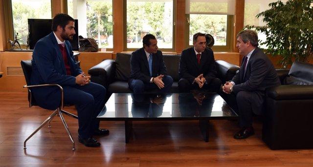 Álvaro García, Luis Miguel Herrero, Óscar Garvin y Miguel Cardenal