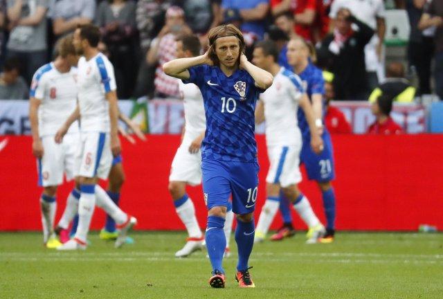 Luka Modric con la selección de Croacia