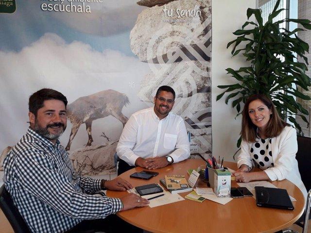 Reunión de Marina Bravo en Ayuntamiento de Mijas