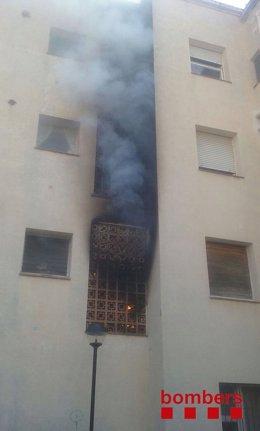 Fuego en una vivienda (ARCHIVO)