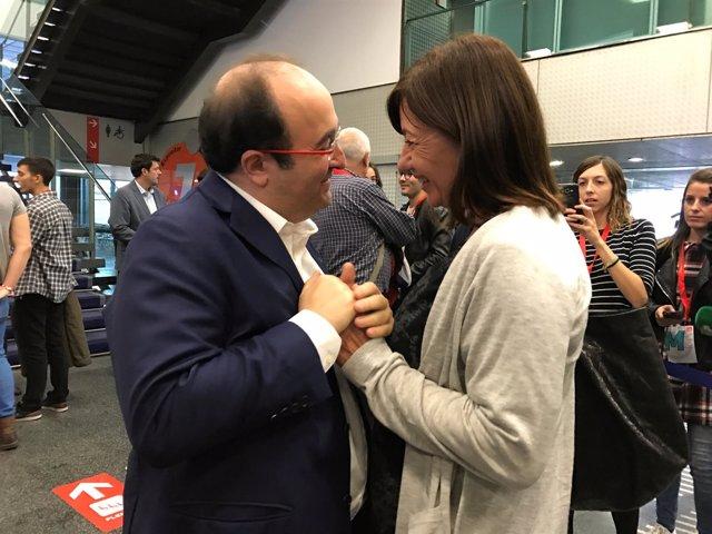 Miquel Iceta y Francina Armengol
