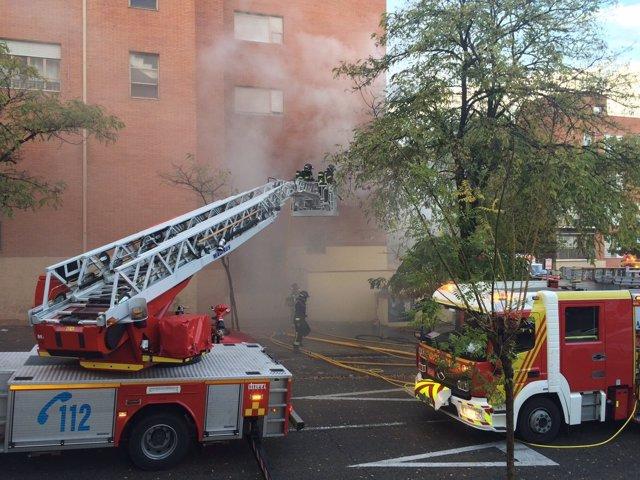 Incendio en una guardería en Puente de Vallecas