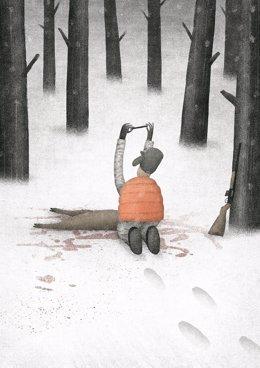 La obra 'La caza', de Diego Fermín, se exhibe en esta muestra en Tardienta