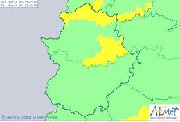Puntos de la provincia de Cáceres con avisos por lluvias