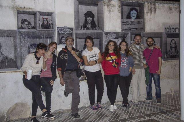 Jóvenes inspiran murales de arte urbano
