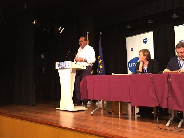 Ramón Espadaler interviene en el Consell Nacional de Unió.
