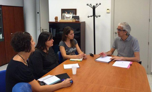 Reunión del PSOE con asociación Duna
