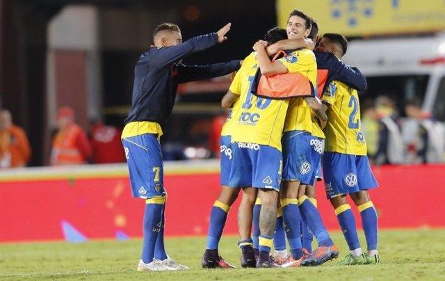 Las Palmas celebra la victoria