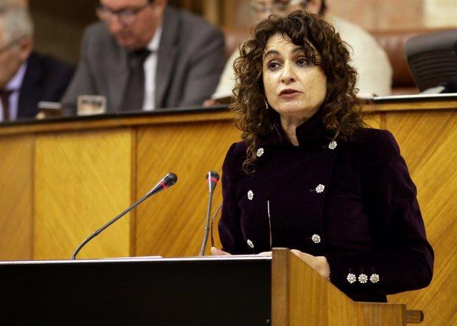 María Jesús Montero ante el Pleno