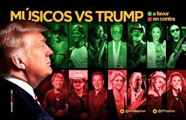 12 músicos que detestan a Donald Trump (y 7 que le defienden)