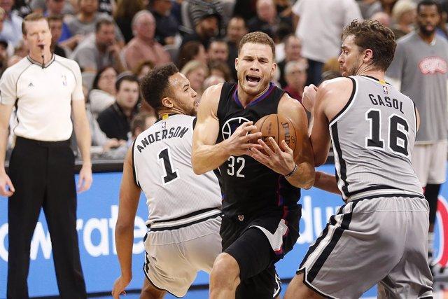 Pau Gasol Blake Griffin San Antonio Spurs Los Angeles Clippers