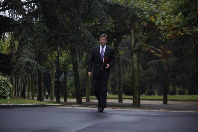 El ministro Rafael Catalá a su llega a Moncloa