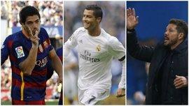 Suárez, Cristiano Ronaldo y Simeone reciben este lunes sus Premios Marca