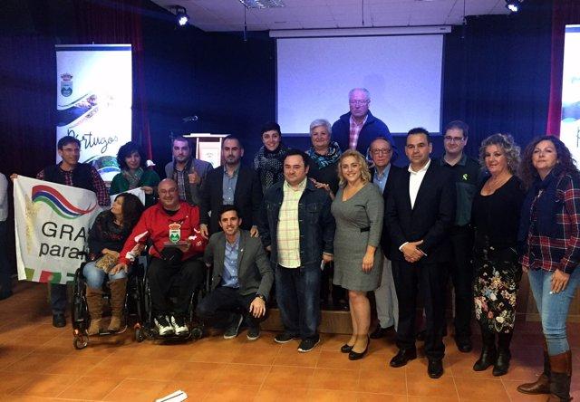 Despedida en Pórtugos (Granada) al deportista paralímpico Manolo Martín