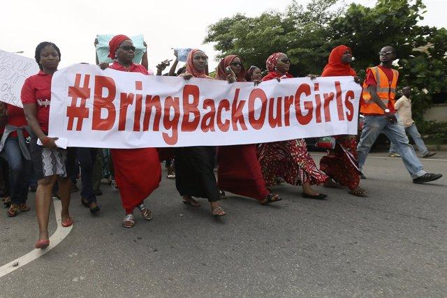 Manifestación por las niñas de Chibok