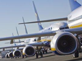 Ryanair gana 1.168 millones en la primera mitad de su ejercicio fiscal, un 7% más