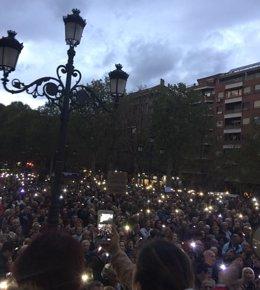 Concentración en Granada contra la fusión hospitalaria