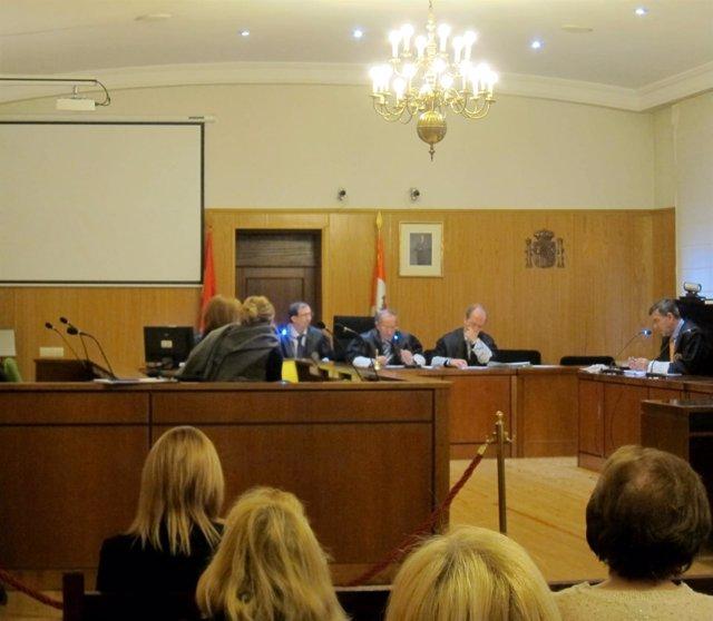 La acusada, durante la conformidad celebrada en la Audiencia de Valladolid.