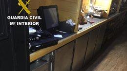 Robo en establecimiento hostelero en Aranga