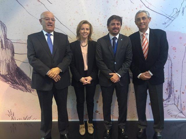 Presidentes de las cuatro patronales turísticas de Canarias