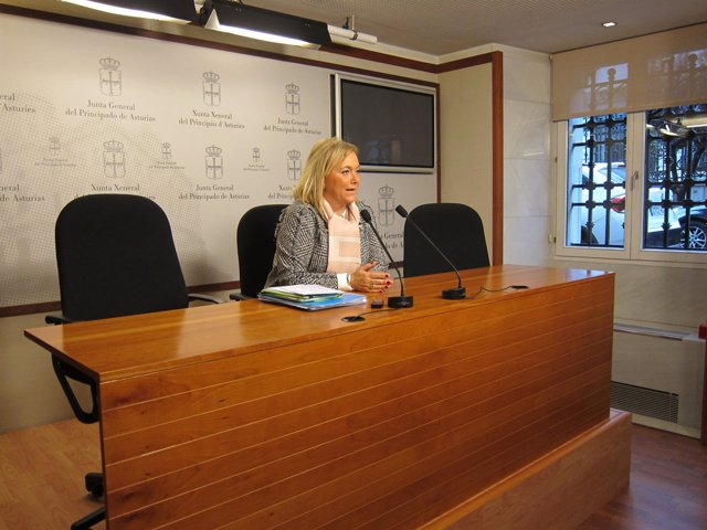 La presidenta del PP asturiano, Mercedes Fernández