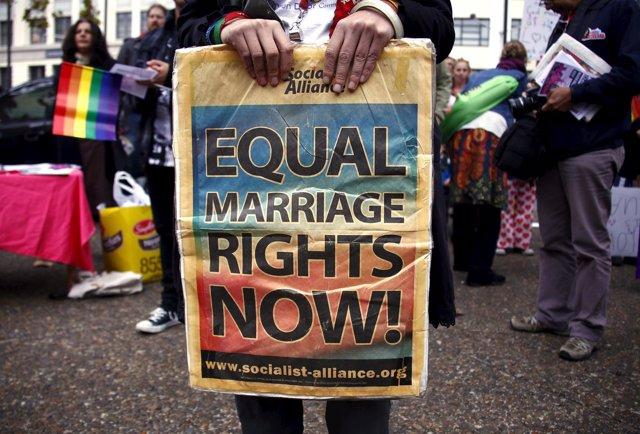 Pancarta en favor del matrimonio homosexual en Sidney