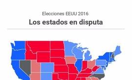 Elecciones EEUU 2016: estos son los estados en los que Clinton y Trump se la juegan