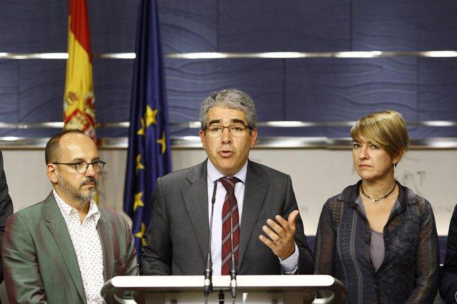Rueda de prensa de Francesc Homs en el Congreso