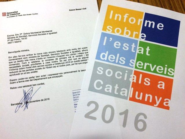 Carta de la consellera Bassa a la ministra Montserrat