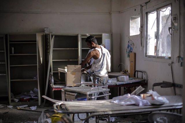 Instalaciones médicas de MSF bombardeadas en Abs (Yemen)