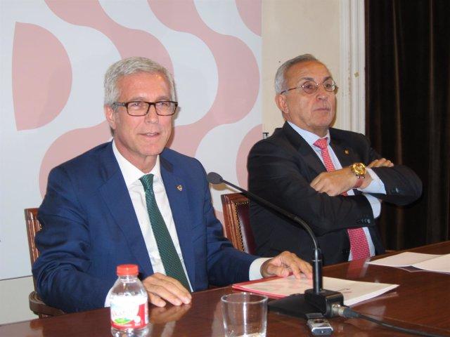 El alcalde de Tarragona, Josep Félix Ballesteros, y presidente del COE, Blanco