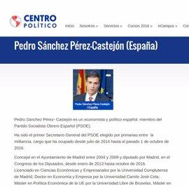 Pedro Sánchez participa en Washington en un seminario sobre las elecciones estadounidenses
