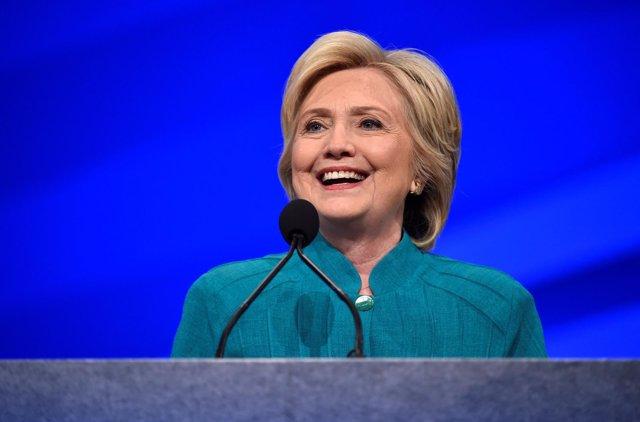 La virtual candidata demócrata a la Presidencia de EEUU, Hillary Clinton