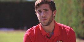 """Sergi Roberto: """"Cristiano es grandísimo, pero tener a Messi es una gozada"""""""