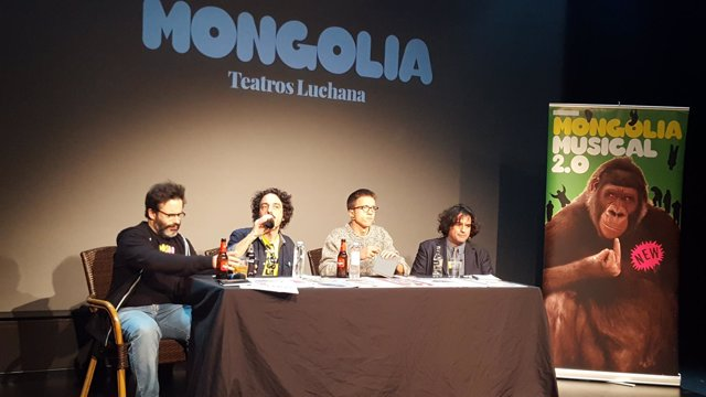 Errejón, en un acto de la revista Mongolia