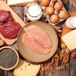 Proteinas, pollo, huevos, dieta