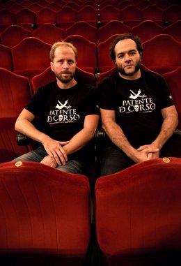 Los actores Alfonso Sánchez y Alberto López