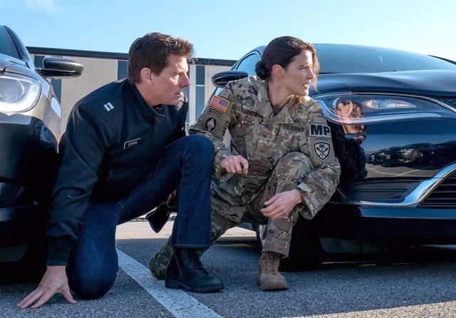 Tom Cruise y Cobie Smulders en Jack Reacher