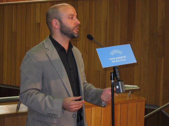Luís Villares, de En Marea, en el Parlamento.