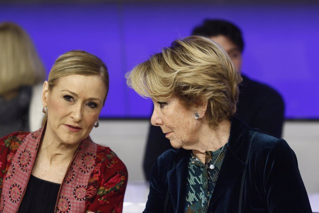 Cristina Cifuentes y Esperanza Aguirre en la Junta Directiva del PP de Madrid